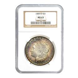 1885-O $1 Morgan Silver Dollar - NGC MS63