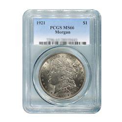 1921 $1 Morgan Silver Dollar - PCGS MS66