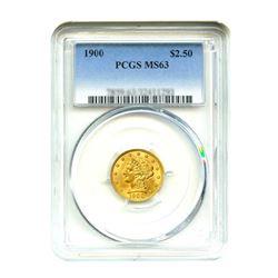 1900 $2.50 Liberty GOLD Quarter Eagle PCGS MS63