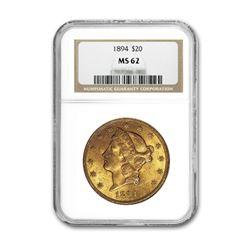 1894 $20 Liberty NGC MS62