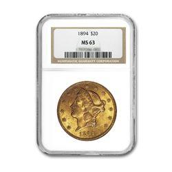 1894 $20 Liberty NGC MS63