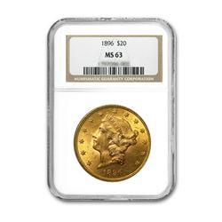 1896 $20 Liberty NGC MS63