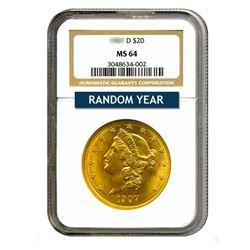 $20 Liberty MS64