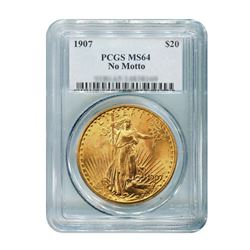 1907 $20 Saint Gaudens NM PCGS MS64