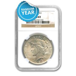 Peace Dollar MS63
