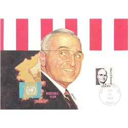 Harry S. Truman 1984 Fleetwood First Day of Issue Maximum Card
