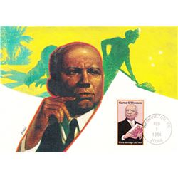 Carter G. Woodson 1984 Fleetwood First Day of Issue Maximum Card