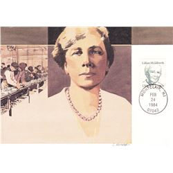 Lillian M Gilbreth 1984 Fleetwood First Day of Issue Maximum Card