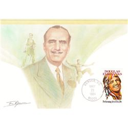 Douglas Fairbanks  1984 Fleetwood First Day of Issue Maximum Card