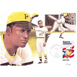 Roberto Clemente 1984 Fleetwood First Day of Issue Maximum Card