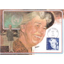 Eleanor Roosevelt 1984 Fleetwood First Day of Issue Maximum Card