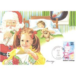 Santa Claus 1984 Fleetwood First Day of Issue Maximum Card