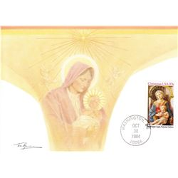 Madonna and Child 1984 Fleetwood First Day of Issue Maximum Card