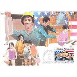 Hispanic Americans1984  Fleetwood First Day of Issue Maximum Card