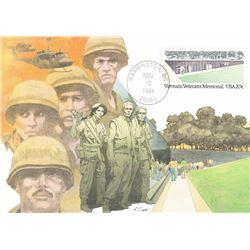 Vietnam Veterans Memorial 1984 Fleetwood First Day of Issue Maximum Card