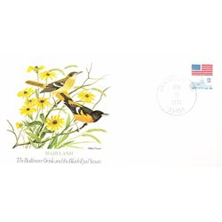 Bird and Flower of Maryland The State Bird and Flower on  An Unprecedented Limited Edition Collectio