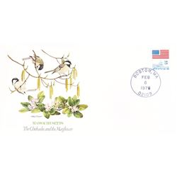 Bird and Flower of Massachusetts The State Bird and Flower on  An Unprecedented Limited Edition Coll
