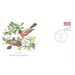 Bird and Flower of Michigan The State Bird and Flower on  An Unprecedented Limited Edition Collectio