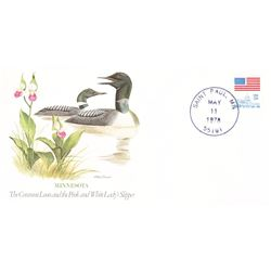Bird and Flower of Minnesota  The State Bird and Flower on  An Unprecedented Limited Edition Collect