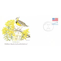 Bird and Flower of Nebraska The State Bird and Flower on  An Unprecedented Limited Edition Collectio