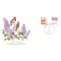 Bird and Flower of New Hampshire The State Bird and Flower on  An Unprecedented Limited Edition Coll