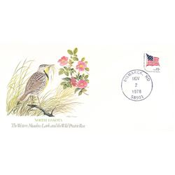 Bird and Flower of North Dakota  The State Bird and Flower on  An Unprecedented Limited Edition Coll