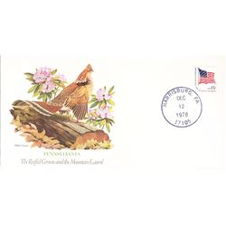 Bird and Flower of Pennsylvania The State Bird and Flower on  An Unprecedented Limited Edition Colle