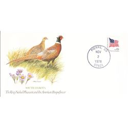 Bird and Flower of South Dakota  The State Bird and Flower on  An Unprecedented Limited Edition Coll
