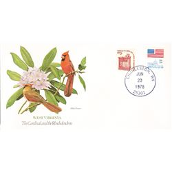 Bird and Flower of West Virginia The State Bird and Flower on  An Unprecedented Limited Edition Coll