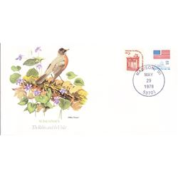 Bird and Flower of Wisconsin The State Bird and Flower on  An Unprecedented Limited Edition Collecti
