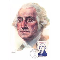 George Washington The Presidents of the United States The First Day of Issue Maximum Cards by Fleetw
