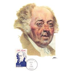 John Adams The Presidents of the United States The First Day of Issue Maximum Cards by Fleetwood. Au