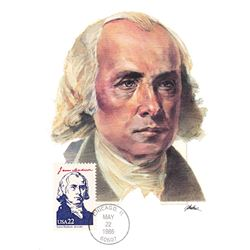 James Madison The Presidents of the United States The First Day of Issue Maximum Cards by Fleetwood.
