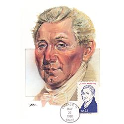 James Monroe The Presidents of the United States The First Day of Issue Maximum Cards by Fleetwood.