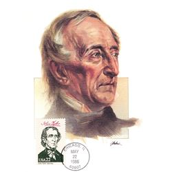 John Tyler The Presidents of the United States The First Day of Issue Maximum Cards by Fleetwood. Au