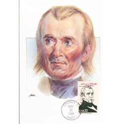 James Polk The Presidents of the United States The First Day of Issue Maximum Cards by Fleetwood. Au