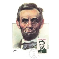 Abraham Lincoln The Presidents of the United States The First Day of Issue Maximum Cards by Fleetwoo
