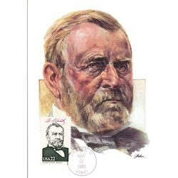 Ulysses S. Grant The Presidents of the United States The First Day of Issue Maximum Cards by Fleetwo