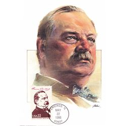 Grover Cleveland The Presidents of the United States The First Day of Issue Maximum Cards by Fleetwo