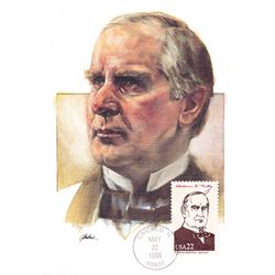 William McKinley The Presidents of the United States The First Day of Issue Maximum Cards by Fleetwo