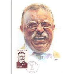 Theodore Roosevelt The Presidents of the United States The First Day of Issue Maximum Cards by Fleet