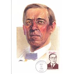 Woodrow Wilson The Presidents of the United States The First Day of Issue Maximum Cards by Fleetwood