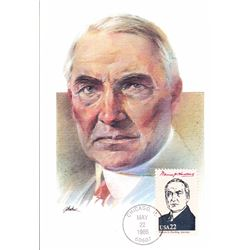 Warren G. Harding The Presidents of the United States The First Day of Issue Maximum Cards by Fleetw