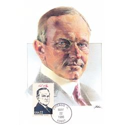 Calvin Coolidge The Presidents of the United States The First Day of Issue Maximum Cards by Fleetwoo