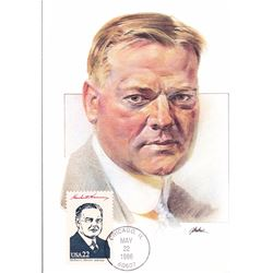 Herbert Hoover The Presidents of the United States The First Day of Issue Maximum Cards by Fleetwood