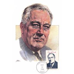 Franklin D. Roosevelt The Presidents of the United States The First Day of Issue Maximum Cards by Fl