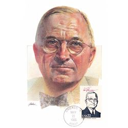 Harry Truman The Presidents of the United States The First Day of Issue Maximum Cards by Fleetwood.