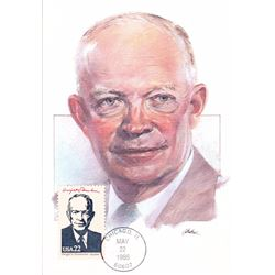 Dwight D. Eisenhower The Presidents of the United States The First Day of Issue Maximum Cards by Fle