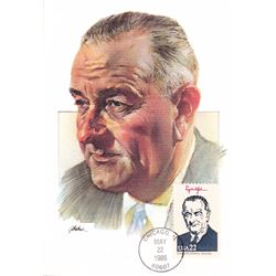 Lyndon B. Johnson The Presidents of the United States The First Day of Issue Maximum Cards by Fleetw