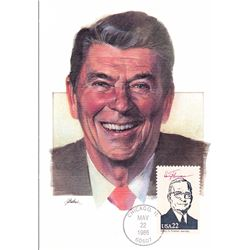 Ronald Reagan The Presidents of the United States The First Day of Issue Maximum Cards by Fleetwood.